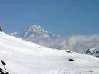 Southern side of Mont Blanc from La Toviere.