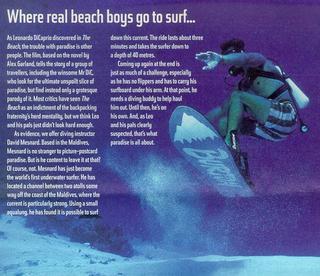 underwater snowboarding